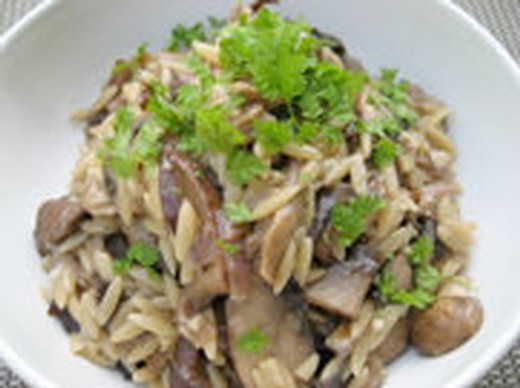 Wild Mushroom and Orzo Risotto