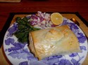 Roasted Salmon and Leeks in Phyllo Packets